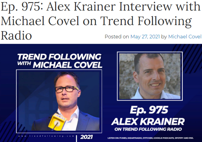 Hear my recent talk on Trend Following with bestselling author Michael Covel!